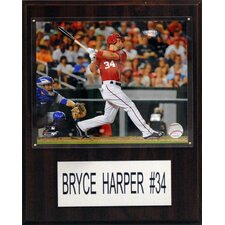 MLB Bryce Harper Washington Nationals Player Plaque