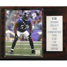 NFL Ray Lewis Baltimore Ravens Career Stat Plaque