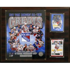 NHL New York Rangers All-Time Great Photo Plaque