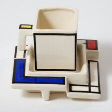 Mondriaan Teacup and Saucer