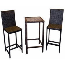 <strong>AZ Patio Heaters</strong> Wicker Bar Height Bistro Set