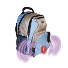 Built-in Alarm School Backpack in Blue & Grey