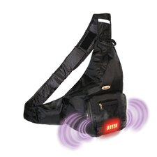Built-in Alarm Sling Backpack in Black