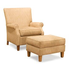 Kacia Curved Back Chair and Ottoman
