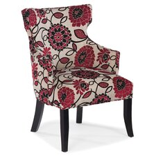 T Shape Back Occasional Fabric Arm Chair