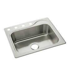 "Southhaven 25"" x 22"" Single Bowl 4-Hole Kitchen Sink"