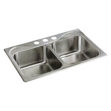 "Southhaven 33"" x 22"" Self Rimming Double Bowl Kitchen Sink"