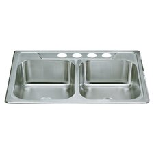"Middleton 33"" x 22"" x 8"" Self Rimming Double Bowl Kitchen Sink"