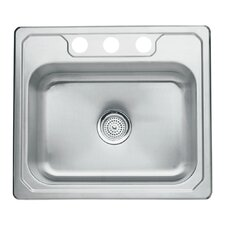 "Middleton 25"" x 22"" x 8"" Self Rimming Single Bowl Kitchen Sink"