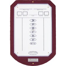Burgundy ScoreStation with White Dry-Erase Surface
