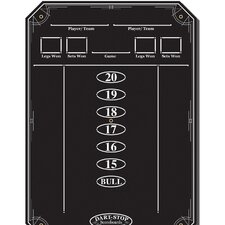Black Scoreboard with Glossy Wet-Erase Surface