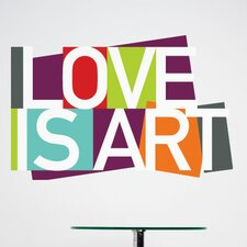 BlaBla Love is Art Wall Decal
