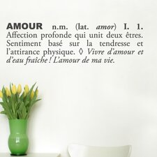 Blabla Amour (French) Wall Decal