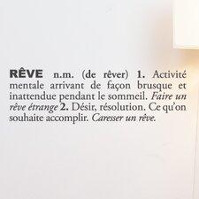 Blabla Rêve (French) Wall Decal