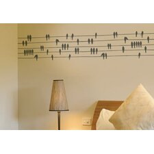 Spot Birds on a Wire Wall Decal