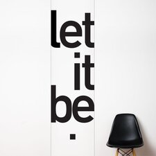 <strong>ADZif</strong> Unik Let it be Wall Decal