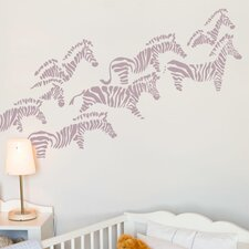 Piccolo Herd of Zebras Wall Sticker