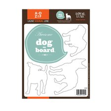 Signal Dog on Board Wall Decal
