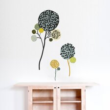 Spot Pompom Flowers Wall Decal