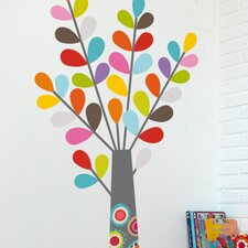 Ludo Colourful Tree Wall Decal