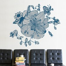 XXL Blue Blossoms Wall Sticker