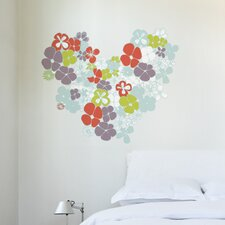 XXL Flowers in Love Wall Sticker
