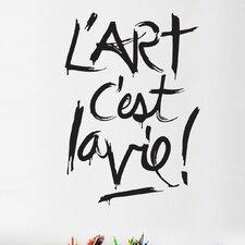 BlaBla L'art C'est la Vie! Wall Decal