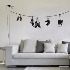 <strong>ADZif</strong> Spot Stringed Shoes Wall Decal