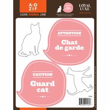 <strong>ADZif</strong> Signal Guard Cat Wall Decal