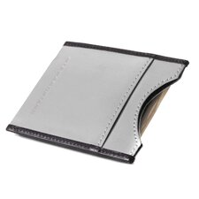 Leather Accent Magnetic Money Clip Wallet