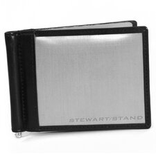 <strong>Stewart/Stand</strong> Leather Accent Money Clip Bill Fold Wallet