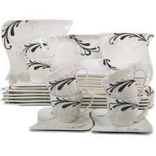 <strong>Creatable</strong> 30 Piece Dinnerware Set in Ocean Madeleine