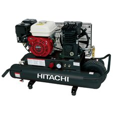 <strong>Hitachi</strong> 5.5 HP Gas Powered Air Compressor with Control Panel