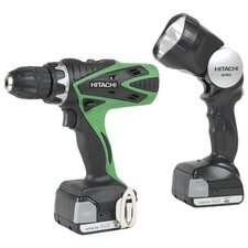 14.4V Cordless Driver with Flashlight