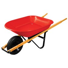 4 Cubic Foot Poly Wheelbarrow