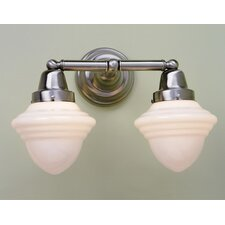 Bradford Schoolhouse 2 Light Bath Vanity Light