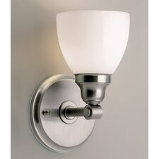 Kentfield 1 Light Wall Sconce with Shiny Opal Shade