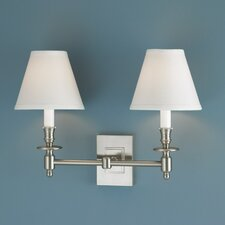 <strong>Norwell Lighting</strong> Weston 2 Light Wall Sconce