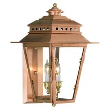 New Orleans 2 Light Outdoor Wall Lantern