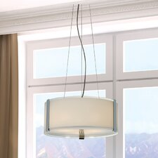 Apollo 3 Light Large Drum Foyer Pendant