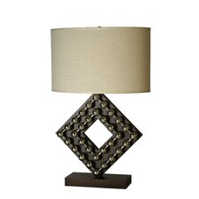 "Preston 27"" H Diamond Table Lamp"