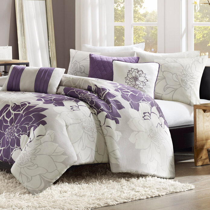 Gray And Purple Bedroom Ideas 2 Magnificent Design