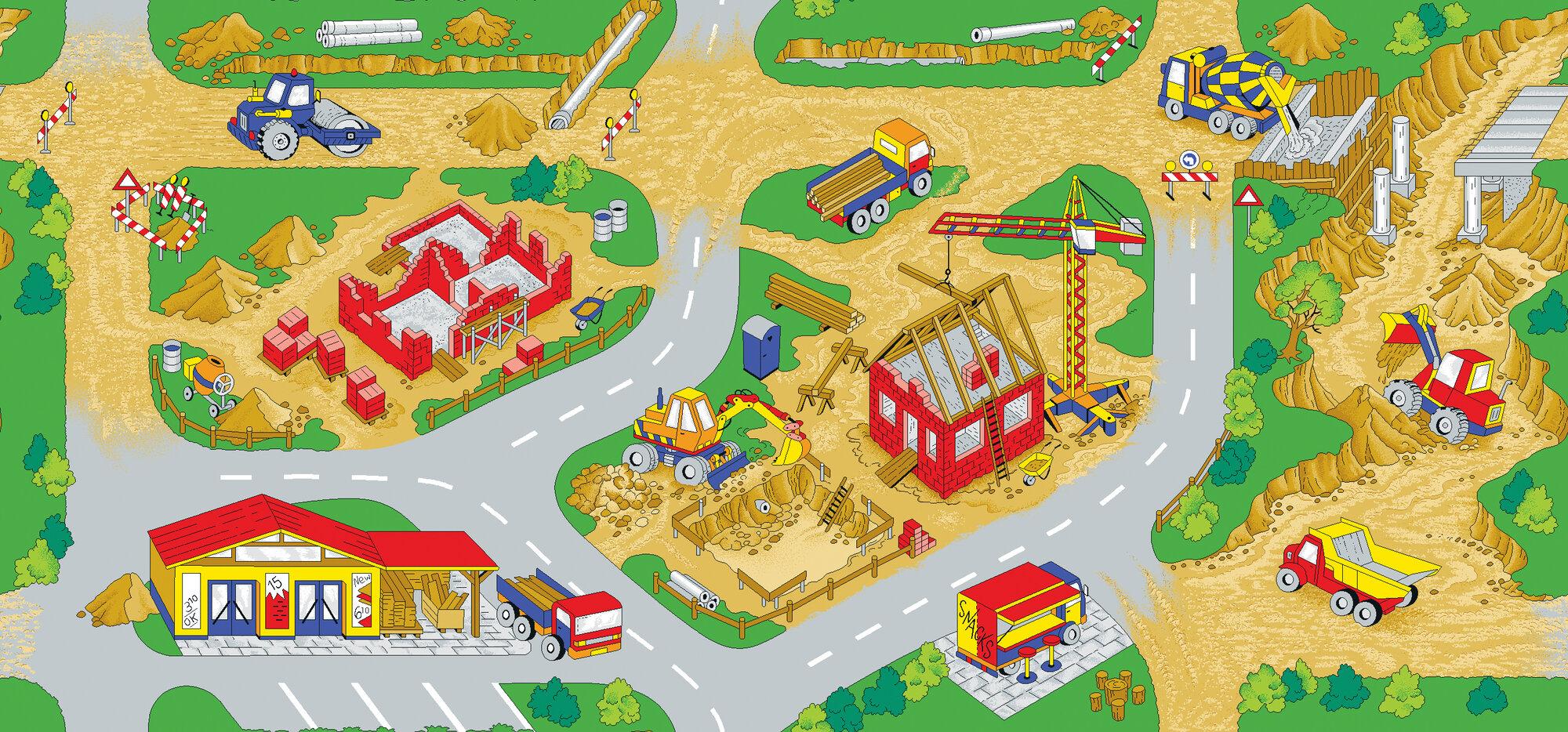 Play Carpet Construction Zone Kids Rug