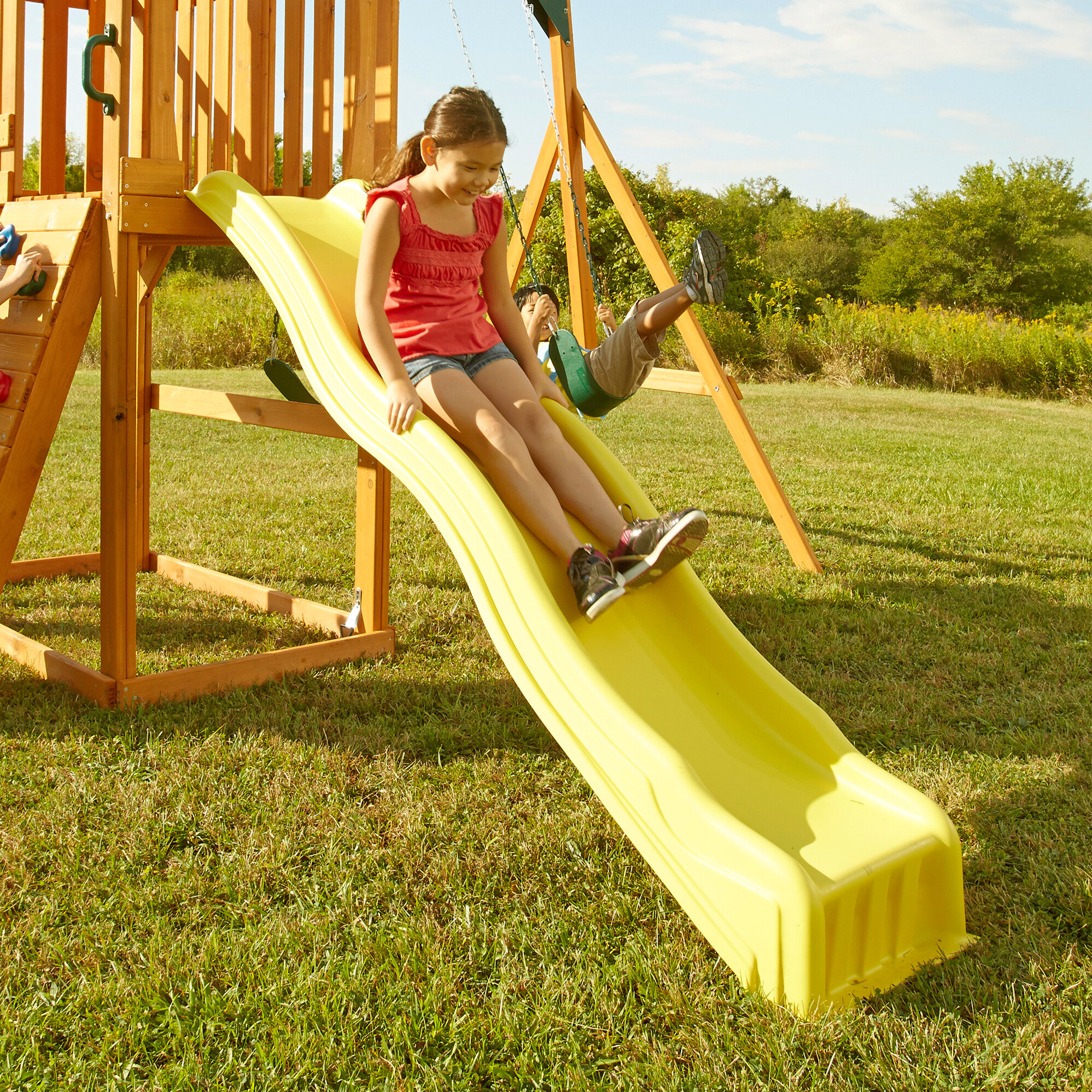 replacement slide playset kids wave playground child park swing trapeze backyard ebay. Black Bedroom Furniture Sets. Home Design Ideas