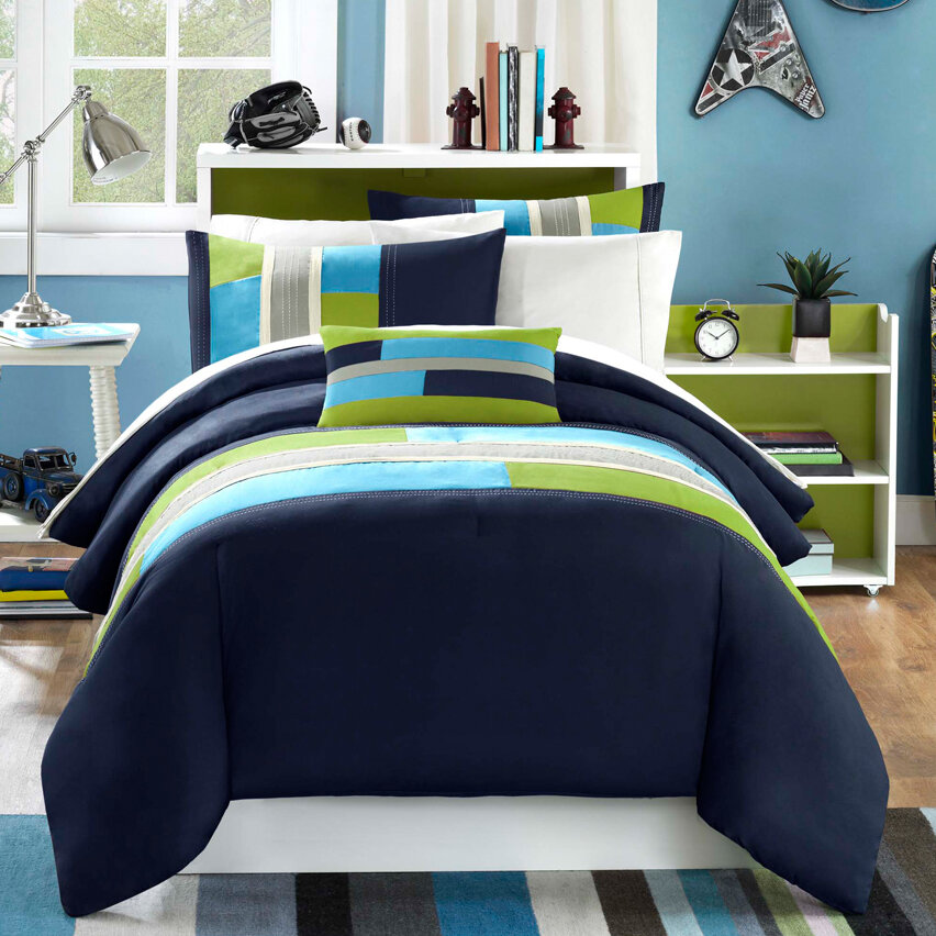 Lime Green Comforter Set Beautiful Teal Blue Green Grey