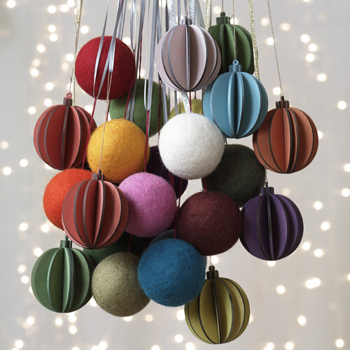 CARNABY GROOVE BALL ORNAMENTS - SET OF 9