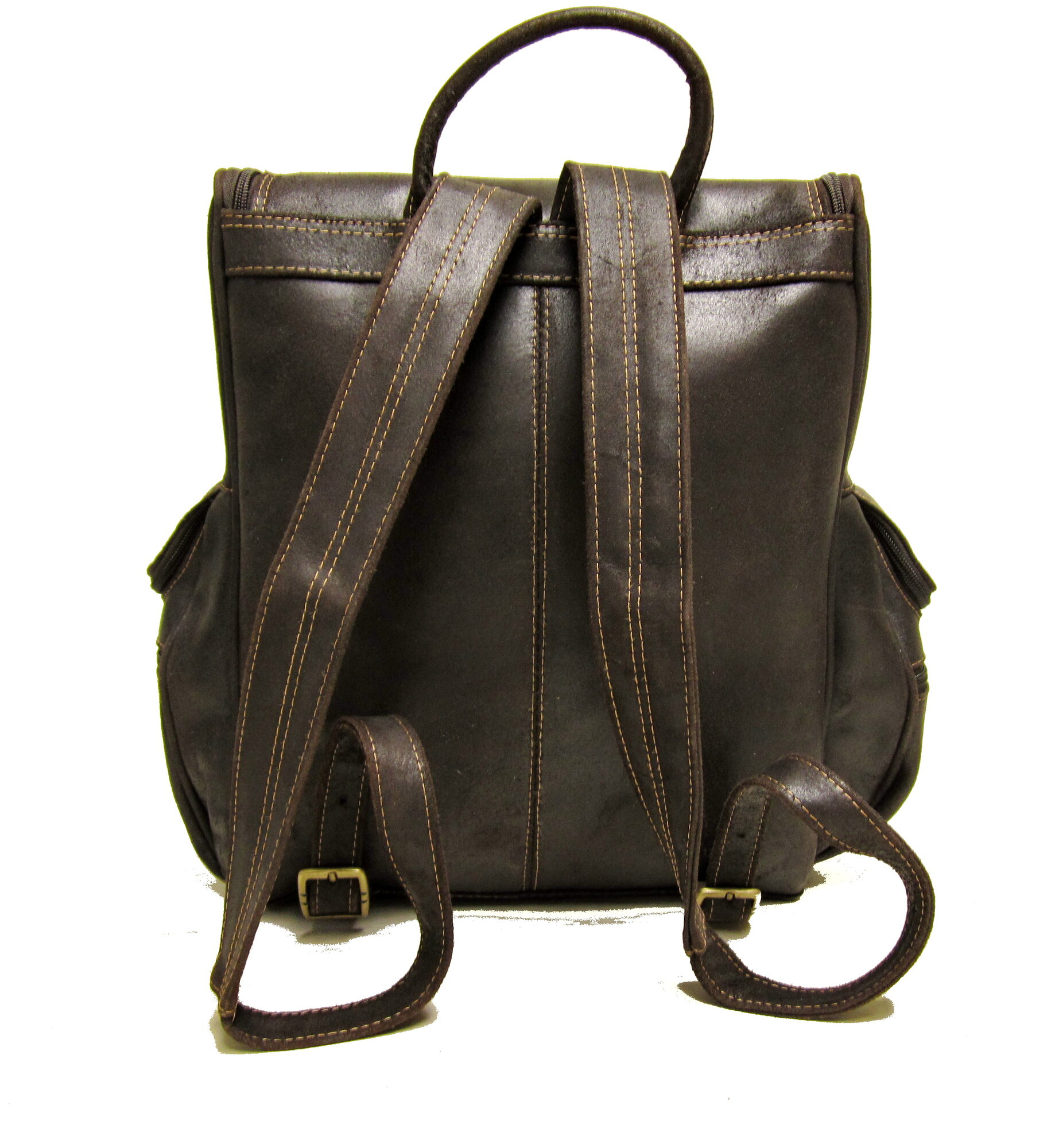 Donne Distressed Leather Laptop Backpack