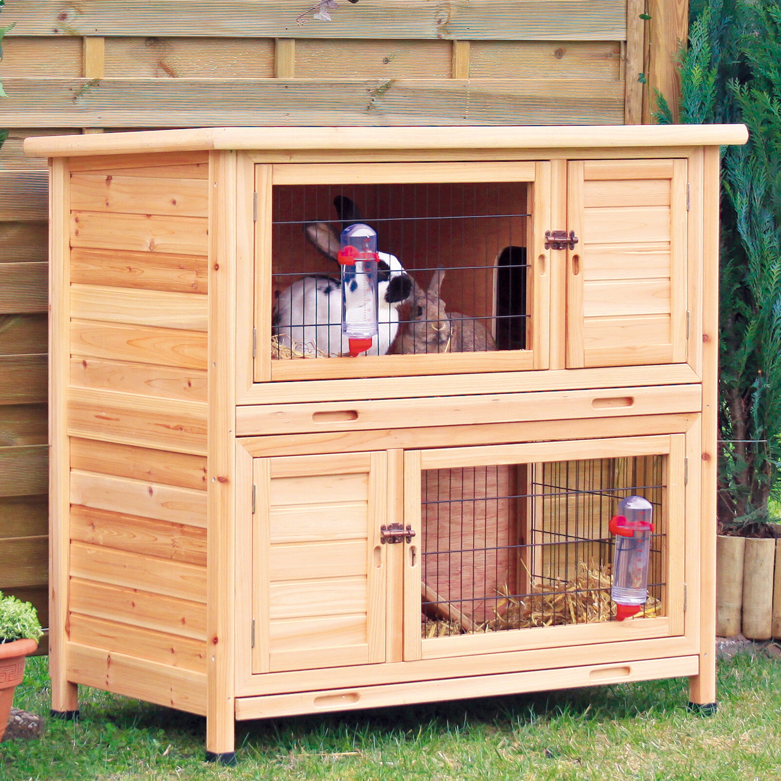 Rabbit Hutch Rabbit House Rabbit Supplies Guinea Pig supplies Rabbit ...
