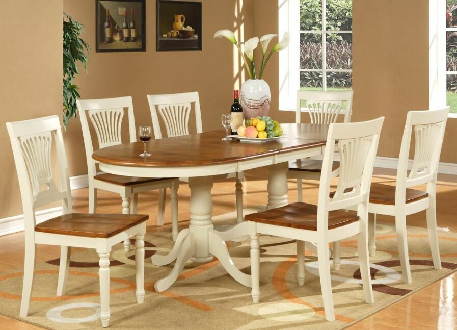 No Credit Check WOIM Plainville 7 Piece Dining Set