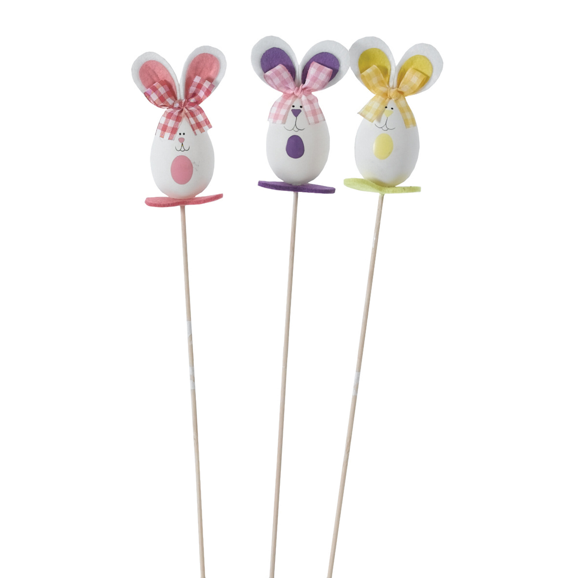 Oddity Inc. Whimsical Easter Bunny Picks (Set of 3)